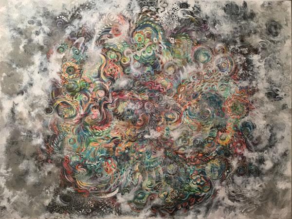Cosmos, SusieQ's original painting
