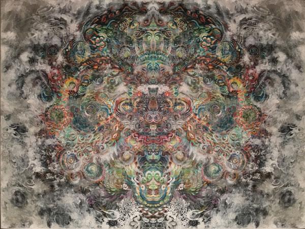 Cosmos 1, SusieQ digital manipulation of painting,