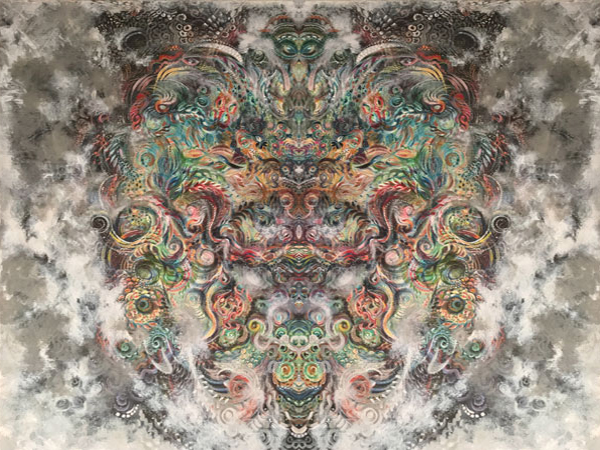 Cosmos 3, SusieQ digital manipulation of painting