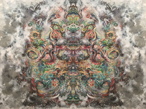 Cosmos 4, SusieQ digital manipulation of painting