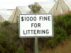 1000dollarfineforlitteringsign