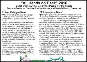"""""""All Hands on Deck"""" public art project signage"""